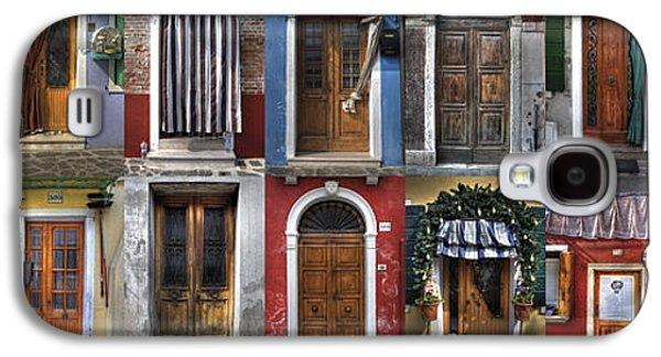 doors and windows of Burano - Venice Galaxy S4 Case