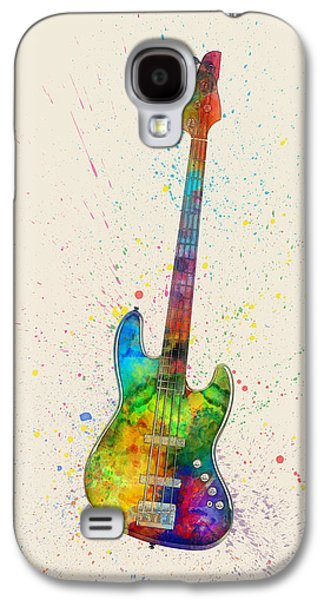 Electric Bass Guitar Abstract Watercolor Galaxy S4 Case by Michael Tompsett