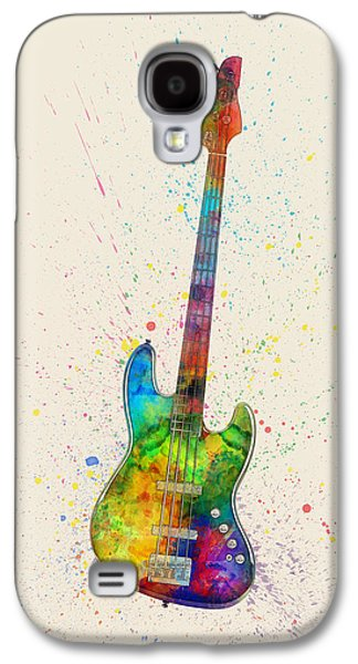 Electric Bass Guitar Abstract Watercolor Galaxy S4 Case