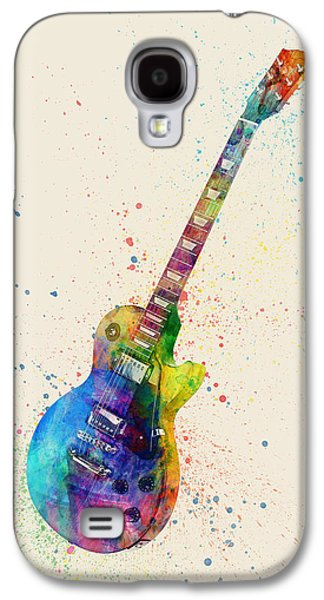 Electric Guitar Abstract Watercolor Galaxy S4 Case