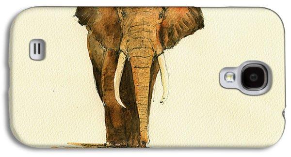 Elephant Watercolor Galaxy S4 Case by Juan  Bosco