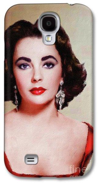 Elizabeth Taylor Hollywood Actress Galaxy S4 Case by Mary Bassett