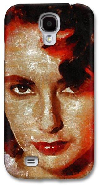 Elizabeth Taylor Galaxy S4 Case by Mary Bassett
