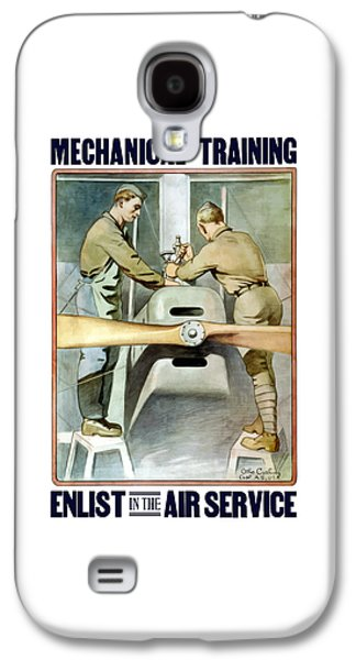 Mechanical Training - Enlist In The Air Service Galaxy S4 Case by War Is Hell Store