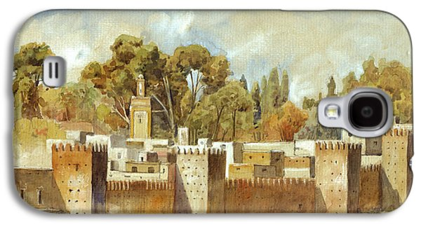 Fes Morocco Orientalist Painting Galaxy S4 Case by Juan  Bosco