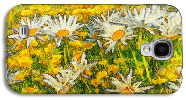 Field Of Daisies Galaxy S4 Case by Claire Bull