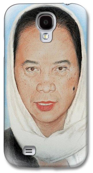 Filipina Woman Wearing A Scarf Galaxy S4 Case by Jim Fitzpatrick