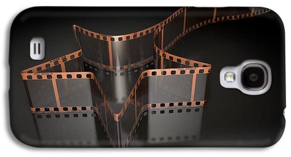 Film Strip Shooting Star Curled Galaxy S4 Case by Allan Swart