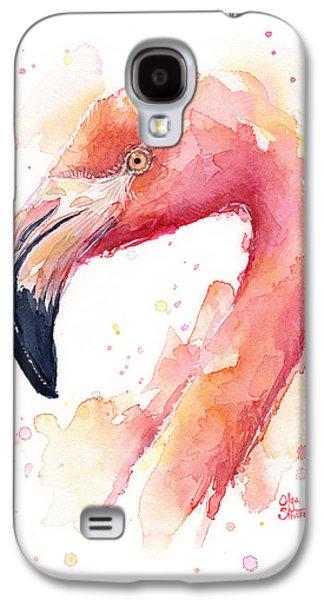 Flamingo Watercolor  Galaxy S4 Case