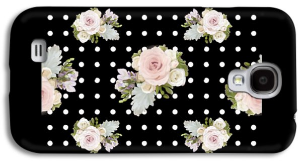 Floral Rose Cluster W Dot Bedding Home Decor Art Galaxy S4 Case