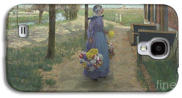 Flower Girl In Holland Galaxy S4 Case