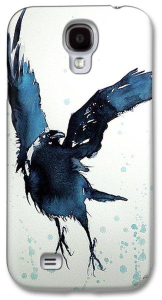 Flying Crow Galaxy S4 Case by Kovacs Anna Brigitta