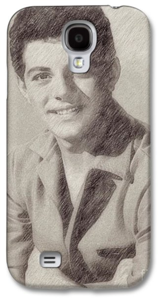 Frankie Avalon Singer Galaxy S4 Case by Frank Falcon