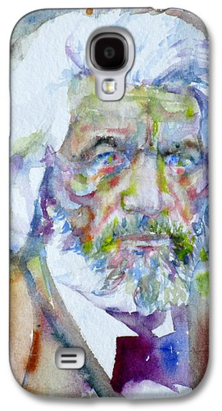 Frederick Douglass - Watercolor Portrait Galaxy S4 Case