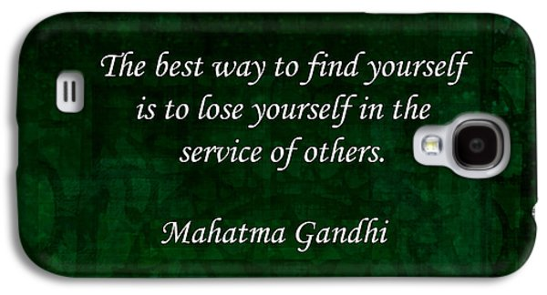 Gandhi Inspirational Quote About Self-help Galaxy S4 Case by Quintus Wolf