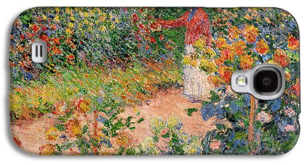 Impressionism Galaxy S4 Case - Garden At Giverny by Claude Monet