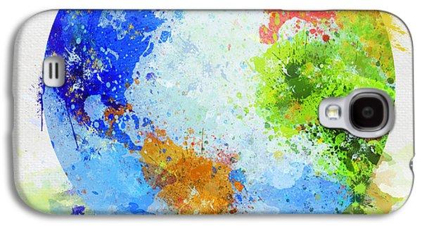 Compass Galaxy S4 Cases - Globe Painting Galaxy S4 Case by Setsiri Silapasuwanchai