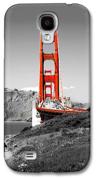 Black And White Galaxy S4 Cases - Golden Gate Galaxy S4 Case by Greg Fortier