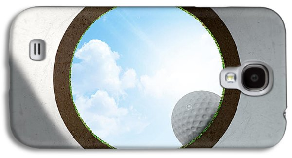 Golf Hole With Ball Approaching Galaxy S4 Case by Allan Swart