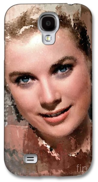 Grace Kelly, Vintage Hollywood Actress Galaxy S4 Case by Mary Bassett