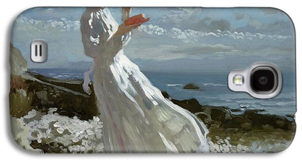 Grace Reading At Howth Bay Galaxy S4 Case by Sir William Orpen