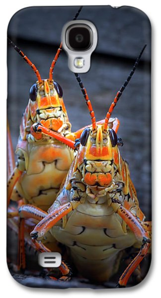 Grasshoppers In Love Galaxy S4 Case by Mark Andrew Thomas