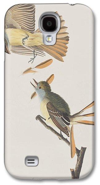 Flycatcher Galaxy S4 Case - Great Crested Flycatcher by John James Audubon