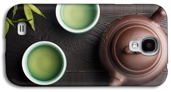 Green Tea In The Tea Cups Galaxy S4 Case by Vadim Goodwill