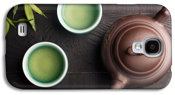 Green Tea In The Tea Cups Galaxy S4 Case