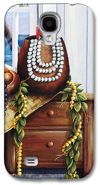 Hawaiian Still Life Panel Galaxy S4 Case by Sandra Blazel - Printscapes