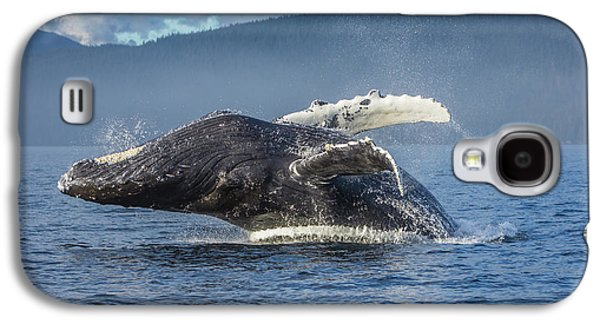 Humpback Whale Breaching In Chatham Strait Galaxy S4 Case