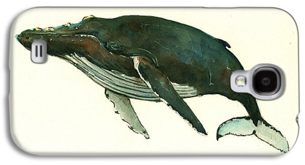 Whale Galaxy S4 Case - Humpback Whale  by Juan  Bosco