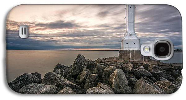 Huron Harbor Lighthouse Galaxy S4 Case by James Dean