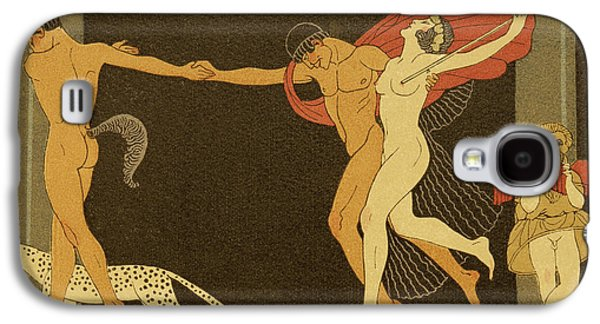 Illustration From Les Chansons De Bilitis Galaxy S4 Case by Georges Barbier