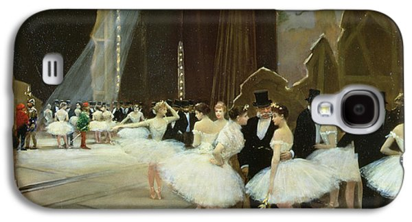 In The Wings At The Opera House Galaxy S4 Case by Jean Beraud