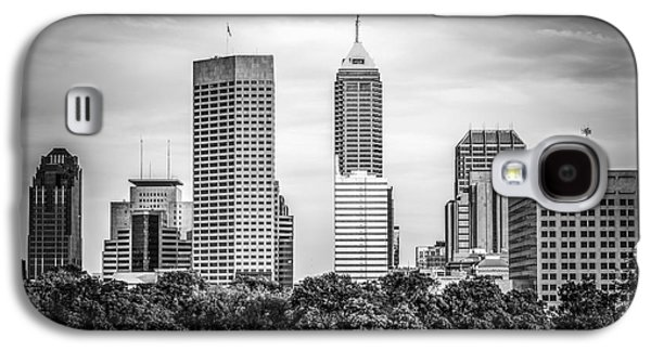 Indianapolis Skyline Black And White Picture Galaxy S4 Case by Paul Velgos