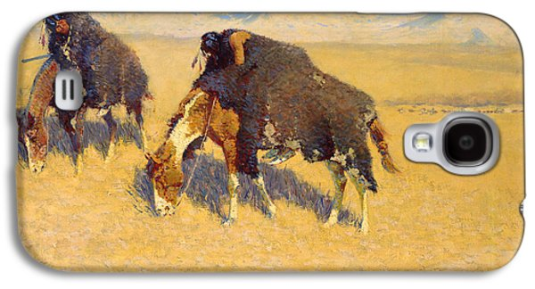 Indians Simulating Buffalo Galaxy S4 Case by Frederic Remington
