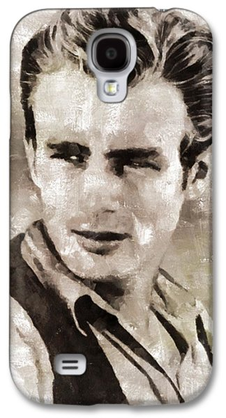 James Dean Hollywood Legend Galaxy S4 Case by Mary Bassett