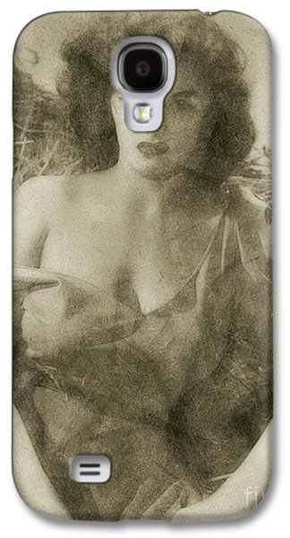 Jane Russell Hollywood Actress Galaxy S4 Case by Frank Falcon