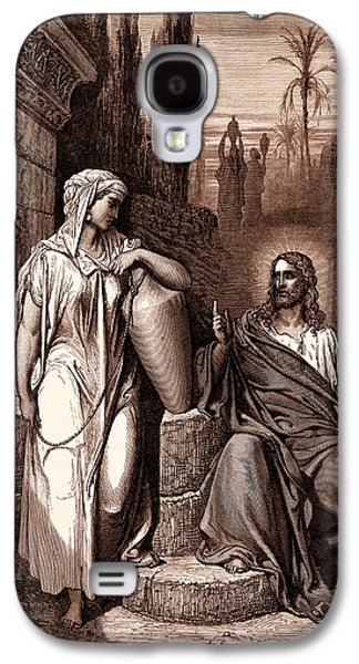 Jesus And The Woman Of Samaria Galaxy S4 Case by Gustave Dore