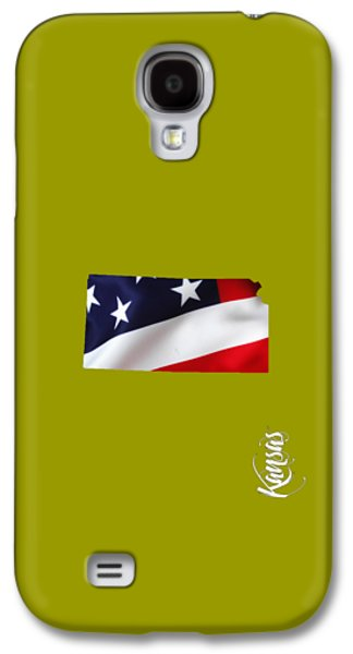 Kansas State Map Collection Galaxy S4 Case by Marvin Blaine