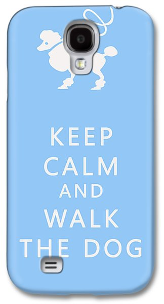 Dog Walking Galaxy S4 Cases - Keep Calm and Walk The Dog Galaxy S4 Case by Nomad Art And  Design