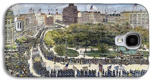 Labor Day Parade, 1882 Galaxy S4 Case by Granger