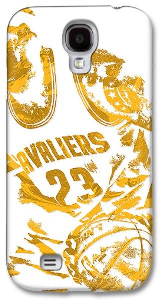 Lebron James Cleveland Cavaliers Pixel Art 7 Galaxy S4 Case by Joe Hamilton