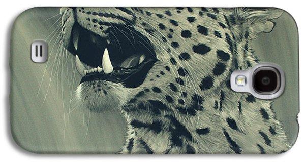 Leopard Portrait Galaxy S4 Case by Aaron Blaise