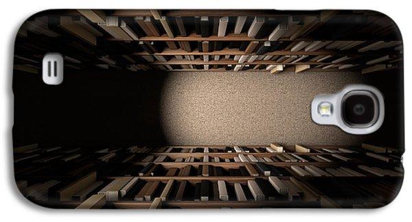 Library Bookshelf Aisle Galaxy S4 Case by Allan Swart