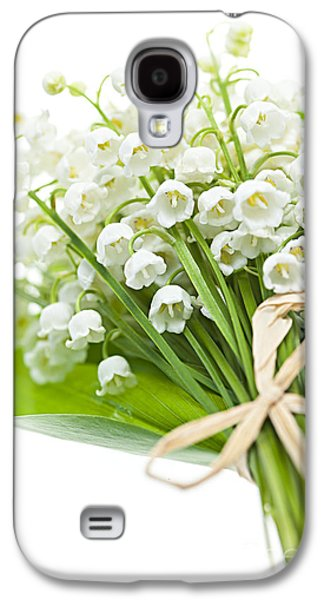 Lily-of-the-valley Bouquet Galaxy S4 Case by Elena Elisseeva