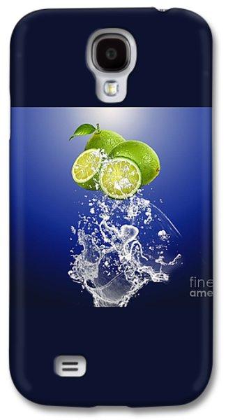 Lime Splash Galaxy S4 Case by Marvin Blaine
