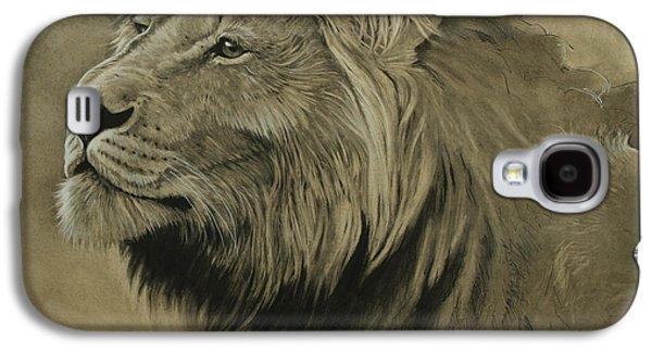 Lion Portrait Galaxy S4 Case by Aaron Blaise