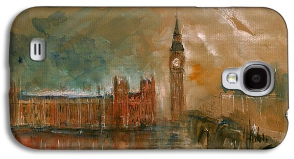 London Watercolor Painting Galaxy S4 Case